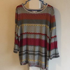 Liz Claiborne multi striped t-shirt